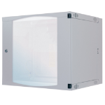 "Intellinet Network Cabinet - Wall Mount Double Section, 9U, 600mm Depth, Grey, Flatpack, 19"", Three Year Warranty"