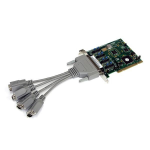 StarTech.com Serial adapter card - PCI - serial - 4 ports - Cable Included - RS232 - DB9