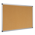 Bi-Office Maya Cork Board Fixed bulletin board Aluminium, Black, Wood
