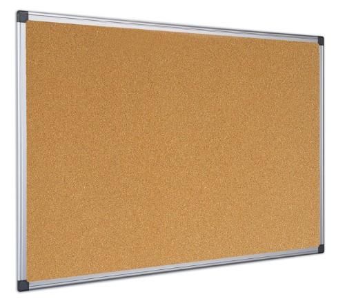 Bi-Office Maya Cork Board Fixed bulletin board Aluminium, Black, Wood