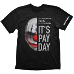 PAYDAY 2 Men's Chains Mask Small T-Shirt, Black (GE1728S)