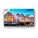 "Sony FW-43BZ35J signage display Digital signage flat panel 109.2 cm (43"") VA 4K Ultra HD Black Built-in processor Android 10"