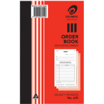 OLYMPIC 639 ORDER BOOK CARBON TRIPLICATE 200 X 125MM 100 LEAF
