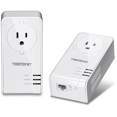 Trendnet TPL-421E2K 1200Mbit/s Ethernet LAN White 2pc(s) PowerLine network adapter