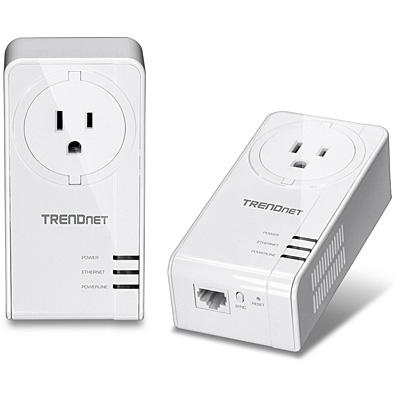 Trendnet TPL-421E2K PowerLine network adapter 1200 Mbit/s Ethernet LAN White 2 pc(s)
