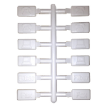 Cablenet White Icon for Angled Shutter 25mm x 50mm (PK 12)