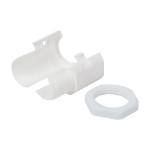 Cablenet 25mm Slit Threaded Gland & Locknut (PK 10) White