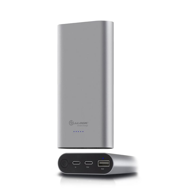 ALOGIC USB-C 15600mAh Portable Power Bank with Dual Output - 2.4A & 3A - Space Grey - Prime Series - Space