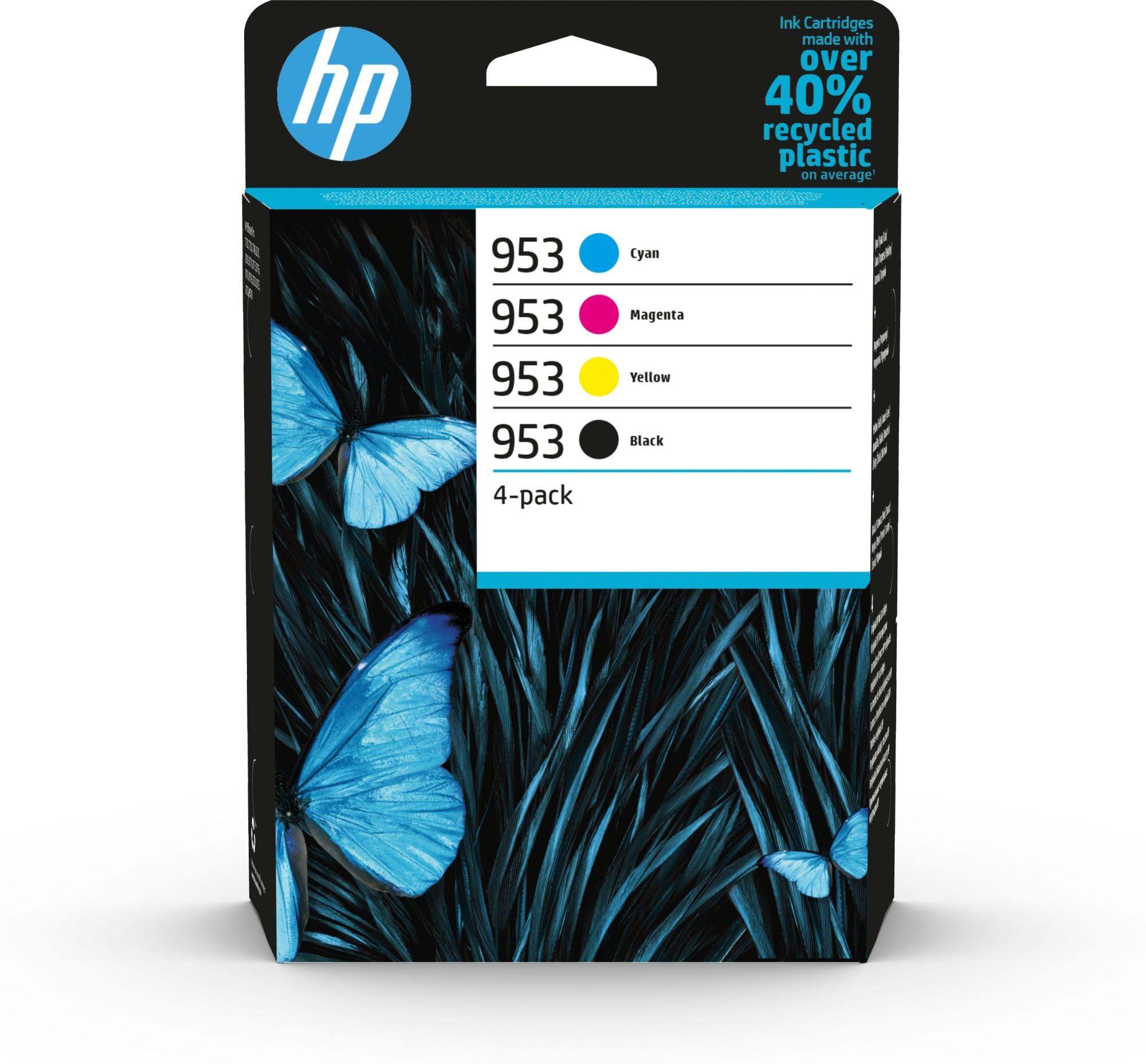 HP 953 Original Negro, Cian, Magenta, Amarillo 4 pieza(s) Rendimiento estándar