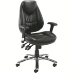 Avior Leather Look Operator Chair Black