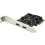 StarTech.com 2-Port USB PCIe Card - 10Gbps USB 3.1 Gen 2 Type-A PCI Express Host Controller Card - USB 3.2 Gen 2x1 PCIe Add-On Adapter Card - UASP - Expansion Card - Windows & Linux