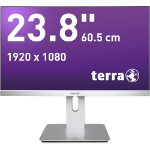"Wortmann AG TERRA 2462W LED display 60.5 cm (23.8"") Full HD Flat Black,Silver"