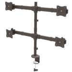StarTech.com Desk Mount Quad Monitor Arm - Articulating - Heavy Duty Steel