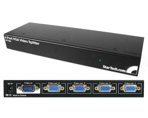 StarTech.com 4 Port 250 MHz VGA Video Splitter / Distribution Amplifier