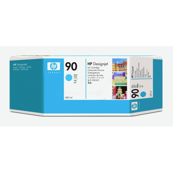 HP C5061A (90) Ink cartridge cyan, 750 pages, 400ml
