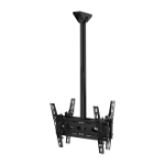 B-Tech Back-to-Back Universal Flat Screen Ceiling Mount with Tilt