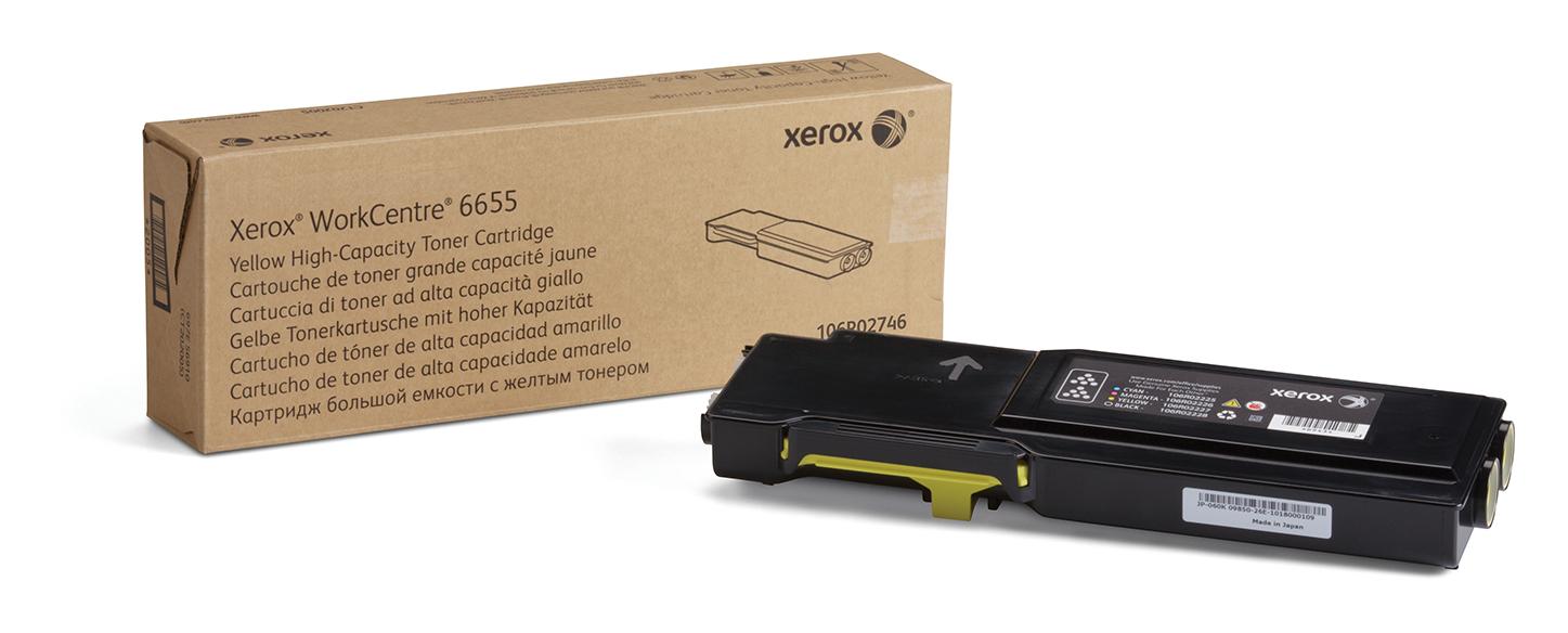 Xerox Workcentre 6655, Cartucho De Tóner Amarillo De Gran Capacidad (7500 Páginas)