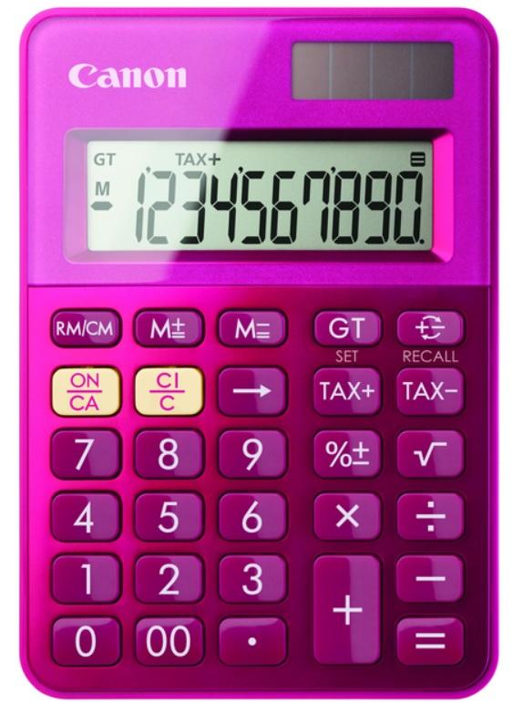 Ls-100k-mpk/big Screen Calculator Pink