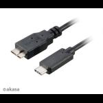 Akasa C/micro-B, 1m 1m USB C Micro-USB B Black USB cable
