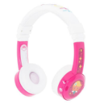 onanoff BuddyPhones InFlight Head-band Binaural Wired Pink, White mobile headset
