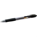 Pilot G210 Gel Rollerball Pen Refillable Medium 1.0mm Tip 0.6mm Line Black Ref 043101201 [Pack 12]