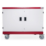 LapSafe Midi Mentor Portable device management cart Red,White