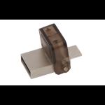 Kingston Technology DataTraveler microDuo OTG 32GB 32GB USB 2.0 USB Type-A connector Brown USB flash drive