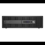 HP ProDesk PC 600 G2 de factor de forma reducido (ENERGY STAR) DDR4-SDRAM i5-6500 SFF 6th gen Intel® Core™ i5 8 GB 500 GB HDD Windows 7 Professional Black