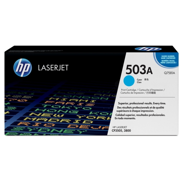 HP Q7581A (503A) Toner cyan, 6K pages @ 5% coverage