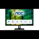 """AOC E2 Q32E2N LED display 80 cm (31.5"""") 2560 x 1440 pixels Quad HD Black"""