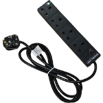 Cablenet PB 4W5MB 4AC outlet(s) 5m Black surge protector