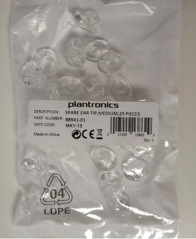 Plantronics Earplugs 25 Pcs., Medium