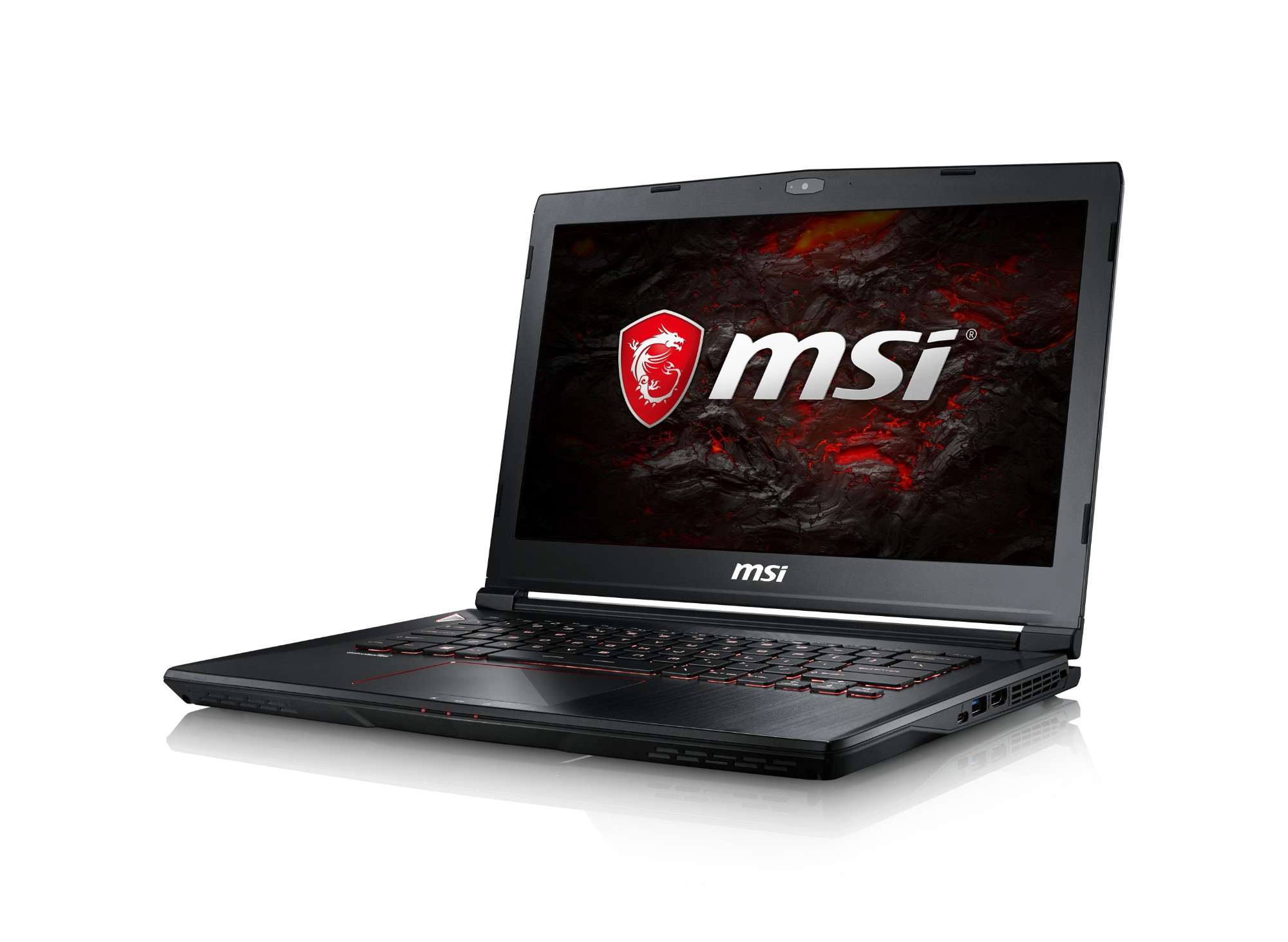 "MSI Gaming GS43VR 7RE(Phantom Pro)-061UK 2.8GHz i7-7700HQ 14"" 1920 x 1080pixels Black Notebook"