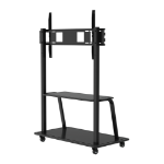 "Vision TM-IFPF 84"" Portable Black flat panel floorstand"