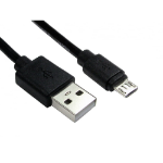Cables Direct 99CDL2-1600 USB cable 0.5 m USB A Micro-USB B Black