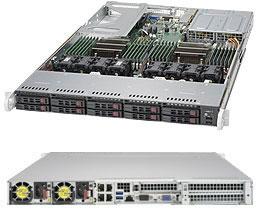 Supermicro 1028U-TR4+ Intel® C612 LGA 2011 (Socket R) Rack (1U) Black