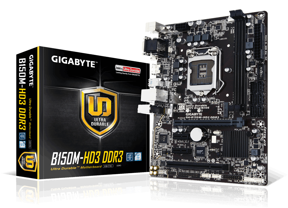 Gigabyte GA-B150M-HD3 DDR3 Intel B150 Micro ATX LGA1151 motherboard