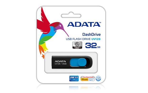 ADATA DashDrive UV128 128GB USB flash drive USB Type-A 3.2 Gen 1 (3.1 Gen 1) Black, Blue