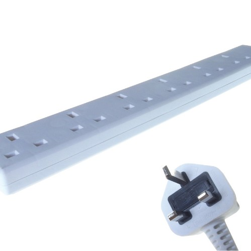 Connekt Gear 27-6020 power distribution unit (PDU) White 6 AC outlet(s)