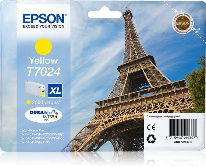 Epson Eiffel Tower Cartucho T70244010 amarillo XL