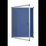 Bi-Office Blue Felt Lockable Noticeboard 6xA4 720x670mm DD
