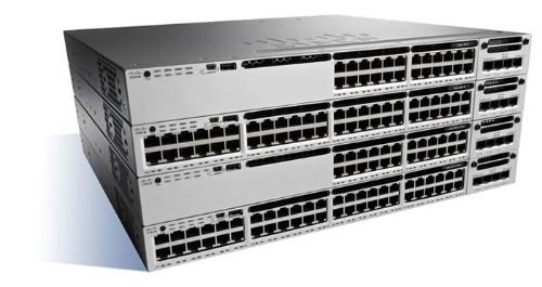 Cisco Catalyst WS-C3850-24P-E-RF network switch Managed Gigabit Ethernet (10/100/1000) Black,Grey Power over Ethernet (PoE)