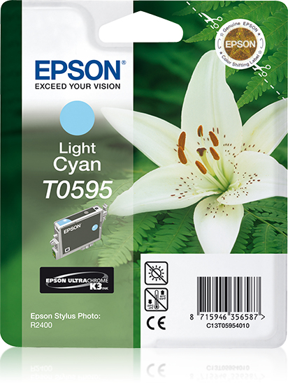 Epson inktpatroon Light Cyan T0595 Ultra Chrome K3