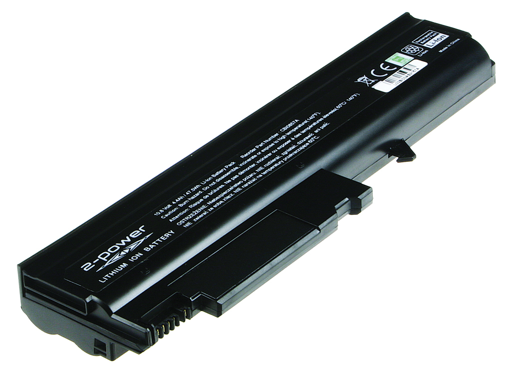 2-Power 10.8v, 6 cell, 47Wh Laptop Battery - replaces 08K8124