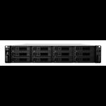 Synology RackStation RS2418+ C3538 Ethernet LAN Rack (2U) Aluminium, Black NAS