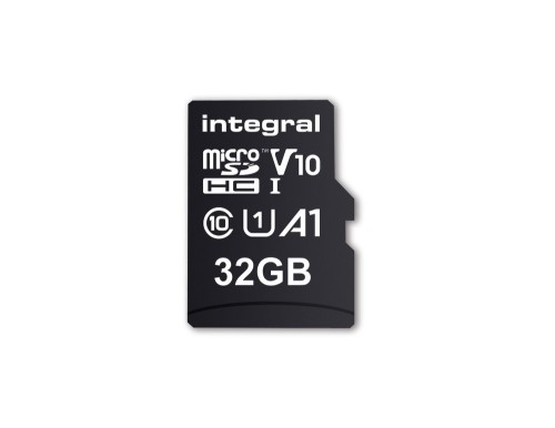 Integral 32GB MICRO SD CARD MICROSDHC UHS-1 U1 CL10 V10 A1 UP TO 100MBS READ