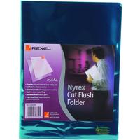 """Rexel Nyrexâ""""¢ A4 Cut Flush Folders Green (25)"""