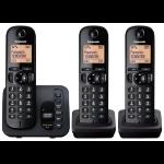 Panasonic KX-TGC223EB DECT Caller ID Black telephone