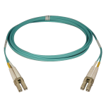 Tripp Lite 10Gb Duplex Multimode 50/125 OM3 LSZH Fiber Patch Cable (LC/LC) - Aqua, 5M