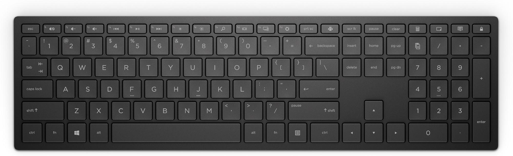Pavilion Wireless Keyboard 600 Black - Qwerty UK